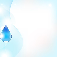 Abstract Vector Line And Blue Water Drop