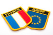 france and europe flags