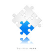 Abstract logo puzzle, blue, start, new
