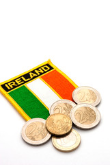 irish flag and euros