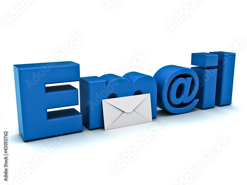 Email concept on white background