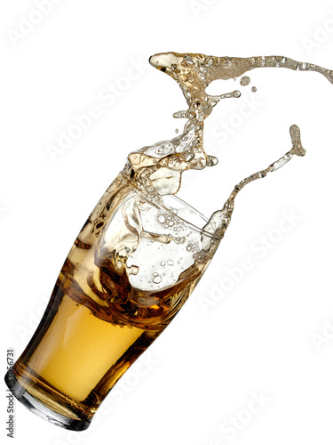 Beer splash from a glass