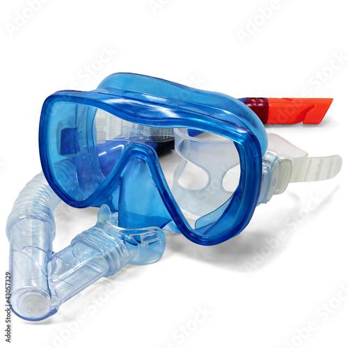 Taucherbrille und Schnorchel - 43057329