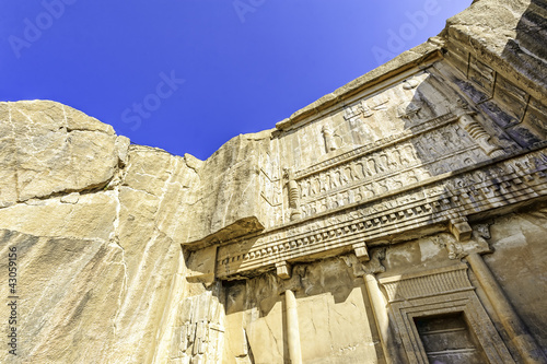 Persian bas-relief in Persepolis, Shiraz, Iran