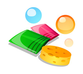 vector icon bath goods