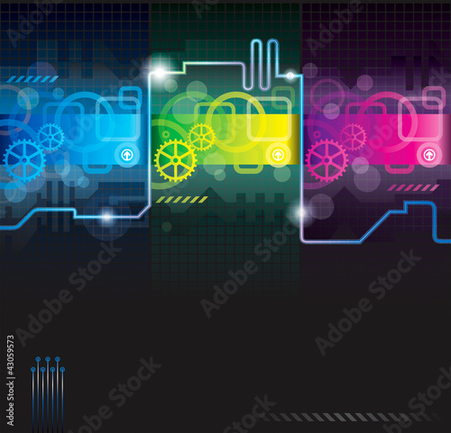 Abstract background for technology, industrial, futuristic.
