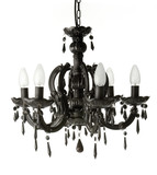 Black haging chandelier isolated