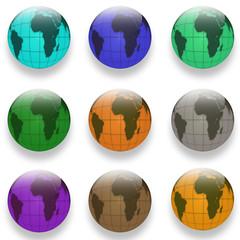 web buttons Globe