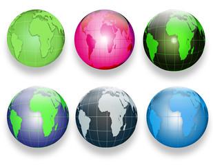web buttons raznotsvenye globes