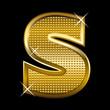 Golden font type letter S
