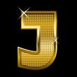 Golden font type letter J
