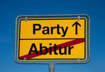 Wechsel-Schild ABITUR-PARTY