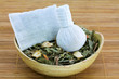 Aromatic Herbal Steam: Thai compress filled with Thai Herbs