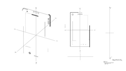 Smartphone Technical Drawing