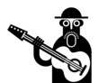 Guitarist vector icon