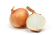 onion half cut on white background. - 43066931