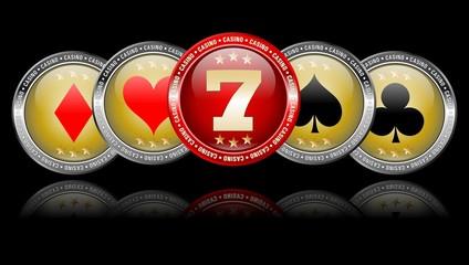 Casino - Imagebild auf schwarz