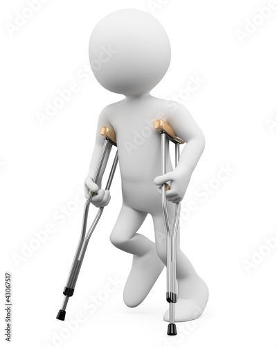 3D white people. Injury