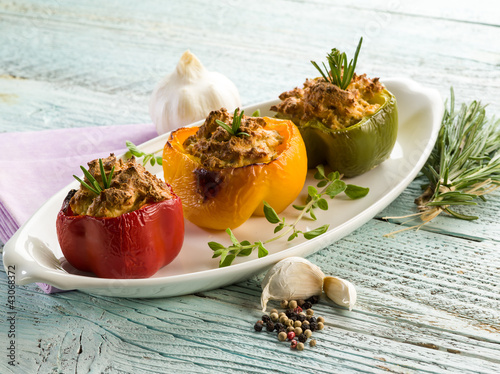 capsicum stuffed with tofu,vegetarian food