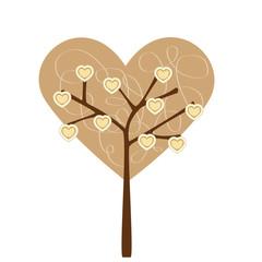 hearts tree - albero con cuoricini