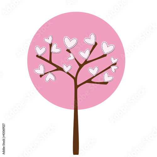pink heart tree - albero in rosa