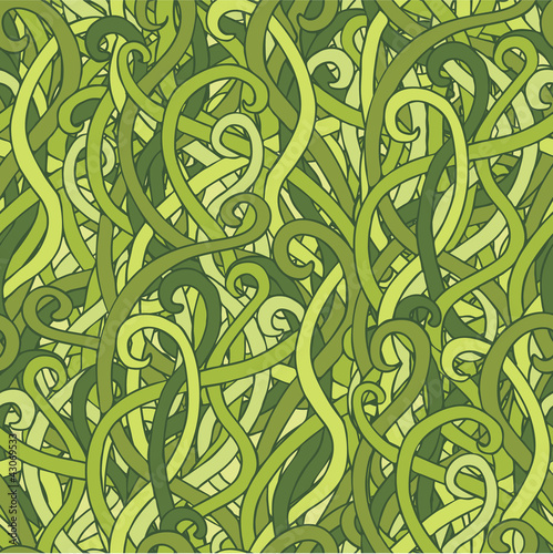 tangled grass pattern