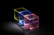 三色のプラスチックブロック