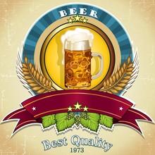 Cerveza logo azul