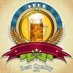 Blue logo beer