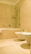 bathroom with toilet and bidet luxury hotel Budapest Hungary
