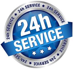 "Button Banner ""24h Service"" blue/silver"