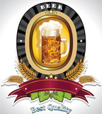 Beer oval logo black