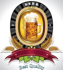 Beer oval logo black