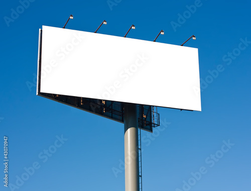 Blank big billboard