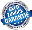"""Button Banner """"Geld-zurück-Garantie"""" blau/silber"""