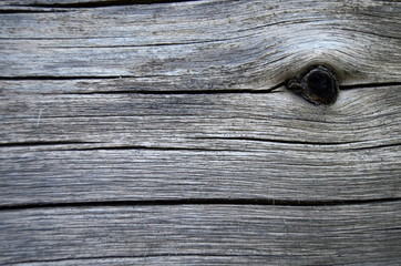 Background Texture Of Old Weathered Wood With A Knot