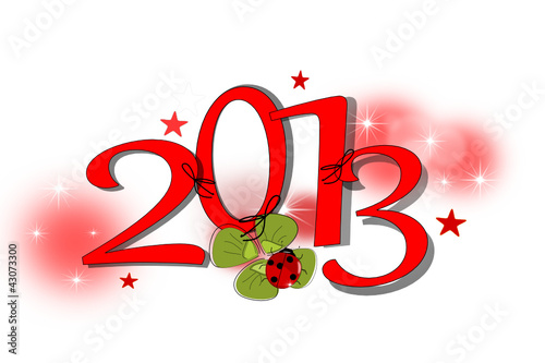 2013, Neujahr Karte