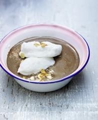Oeufs à la neige au chocolat