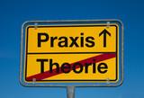 Fototapety Wechselschild THEORIE - PRAXIS