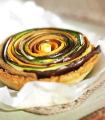 Tartelettes aux légumes en spirale