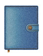 Blue denim notebook