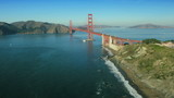 Aerial view of the  Golden Gate Bridge, San Francisco,  USA
