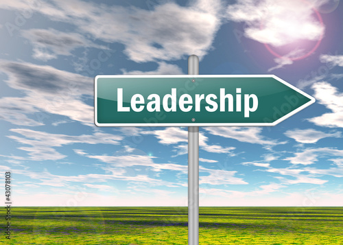 "Signpost ""Leadership"""