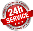 "Button Banner ""24h Service"" red/silver"