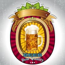 Burdeos cerveza logo ovalado