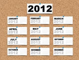 2012 Calendar paper