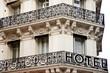 nobles Hotel mit Balkon