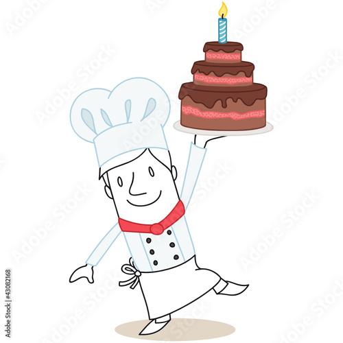 Figur, Koch, Bäcker, Torte