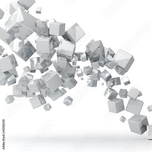 streszczenie-3d-blyszczacy-bialy-kostki-tla