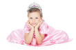 Smiling little girl with silver crown